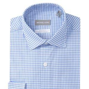 MICHAEL Michael Kors Gingham Shirt 16x32/33 New